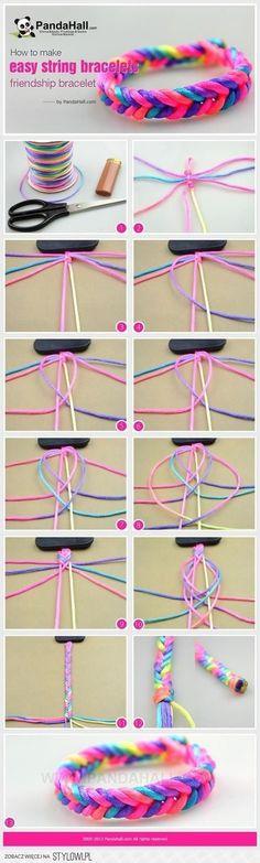 DIY Easy String Bracelets            tjn