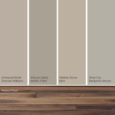 These soft, subtle hues pick up the warm, rich shades in a walnut wood floor nicely.