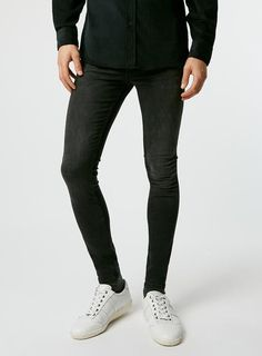 Washed Black Super Spray On Skinny Jeans