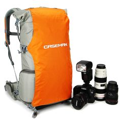 Caseman AOS2 Light Gray Dslr Camera shoulder bag Sling Case Travel Waterproof fit for Canon Sony Nikon Pentax