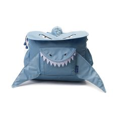 Take a bite out of style with the awesome new Shark Mini Backpack from Bixbee! Perfectly sized for your little one, the Shark Mini Backpack features a horizontal design that keeps supplies within easy reach, plenty of interior space for books or toys, and contoured shoulder straps with cushy padding for comfortable carrying.