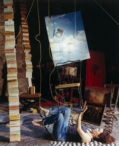 Sandra Stark, American (1951 -), The Balancing Act-Self-portrait (MacDowell Colony), 1991, Creation Place: United States, Chromogenic print, image: 57.1 x 46.6 cm (22 1/2 x 18 3/8 in.), sheet: 60.8 x 50.8 cm (23 15/16 x 20 in.), Harvard Art Museums/Fogg Museum, Davis Pratt and Kate, Maurice R. and Melvin R. Seiden Purchase Fund for Photographs.