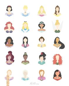 Disney Icons, Art Disney, Disney Girls, Disney Pixar, Cute Disney Drawings, Disney Princess Drawings, Disney Princess Pictures, Princess Disney, Collage Disney