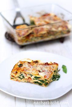 Spinat Tomaten Lasagne