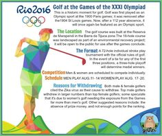 #Golf at the Games of the XXXI Olympiad. ⛳#2016Olympics #Rio #OlympicGolf #Olympics #GolfFacts
