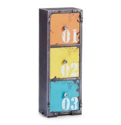 L'étagère Loft colonnes 3 tiroirs, industriel