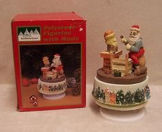 """The young ones will love to watch this revolve! It plays """"Silent Night"""""""