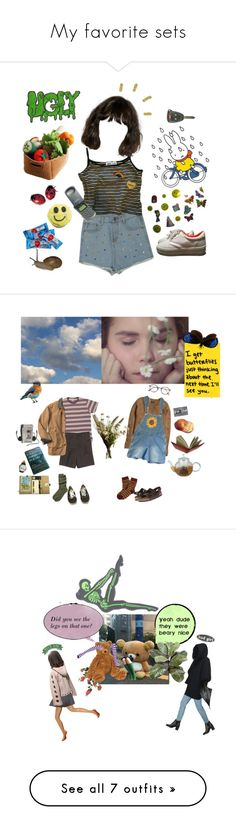 """""""My favorite sets"""" by lavenderlives ❤ liked on Polyvore featuring Me & Zena, H&M, Birkenstock, Brooks Brothers, Abigail Ahern, Vans, Frency & Mercury, Toast, CASSETTE and art"""
