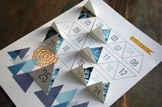 This Modern Advent Calendar Features Graphic Design Instead of Chocolate #christmas #papercrafts trendhunter.com