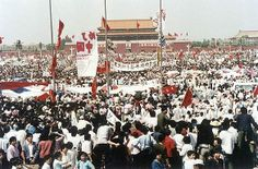 Pro-democracy rally in Beijing's Tiananmen Square, 1989