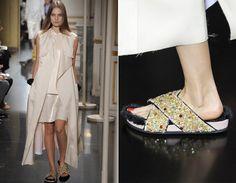 A peça faz parte da coleção de verão 2013 da grife Céline e foi desfilada em setembro de 2012 na Semana de Moda de Paris.