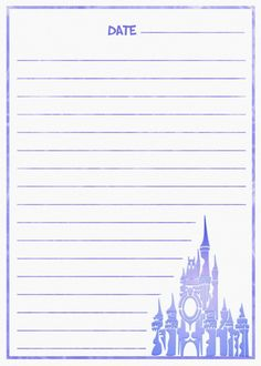 Magic Kingdom Journal Page Disney Diy, Disney Crafts, Disney Love, Walt Disney World Vacations, Disney Trips, Imprimibles Toy Story Gratis, Project Life Scrapbook, Disney Printables, Disney Magic Kingdom