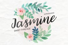 FREE this week on Creative Market: Jasmine Fonts by Daria Bilberry Download link: https://crmrkt.com/2d090