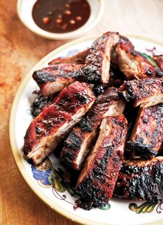 Chinese-Style Ribs. Made these in the slow cooker minus the bitters (which I didn't have). They came out great.
