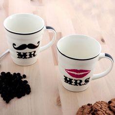 Mr & Mrs Mugs (New Design)