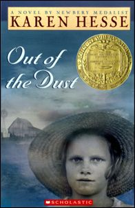 Lexile: Out of the Dust - Karen Hesse. Time Period: Depression Told in first-person, free-verse poems, this is the story of Bilie Joe's struggle to survive during the dust bowl years of the Depression. Recommended by Melissa Barner (Avon City Schools) Newbery Award, Newbery Medal, Date, Books For Tween Girls, Good Books, Books To Read, Children's Books, Free Verse Poems, Dust Bowl