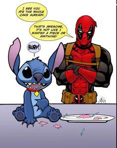 Stitch and Deadpool