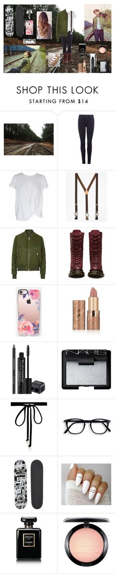 """""""J-Hope // Run"""" by bulletproof-wolfie on Polyvore featuring 7 For All Mankind, MINKPINK, Brooks Brothers, Topshop, Dr. Martens, Casetify, tarte, Rodial, NARS Cosmetics and Joomi Lim"""