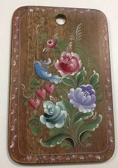 Resultado de imagem para bauernmalerei folk decorative art Folk Art Flowers, Flower Art, Tole Painting, Fabric Painting, Painted Milk Cans, Norwegian Rosemaling, Scandinavian Folk Art, Russian Painting, Arte Popular