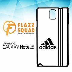 White Adidas Custom X4543 Samsung Galaxy Note 3 Case