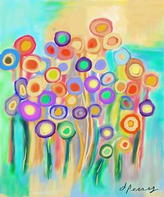"""""""Spring Bouquet""""  Digital Painting     by D. Perry"""