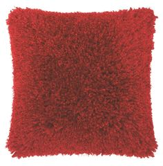 Soft to the touch, but bold on color, this Red shag pillow adds a bright pop of on-trend style to any living space. Red Pillows, Throw Pillows, Pillow Texture, Modern Pillows, Best Pillow, Furniture Inspiration, Shag Rug, Lush