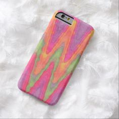 Bright Zigzag Stripes Pattern Watercolor Painting iPhone 6 Case