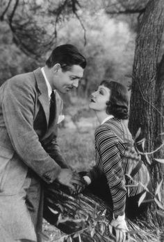 vintalgia:  Clark Gable and Claudette Colbert in It Happened One Night, 1934