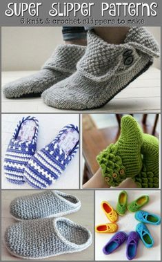 bf90ebe37d9 Crochet Patterns Slippers Check out these great knit and crochet slippers  patterns to make for women!