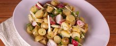 Summer Potato Salad by Daphne Oz on The Chew.  This light and easy potato salad makes a great addition to your next summer get-together.