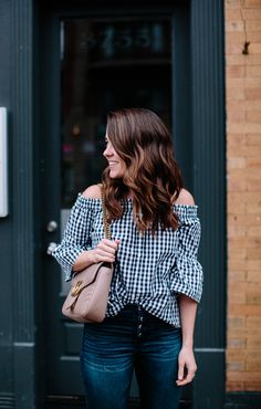 Gingham top for spri