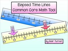 Elapsed Time Lines - Common Core Math Tool...awesome printable manipulative to help students master CCSS 3.MD.1 and 4.MD.2! $
