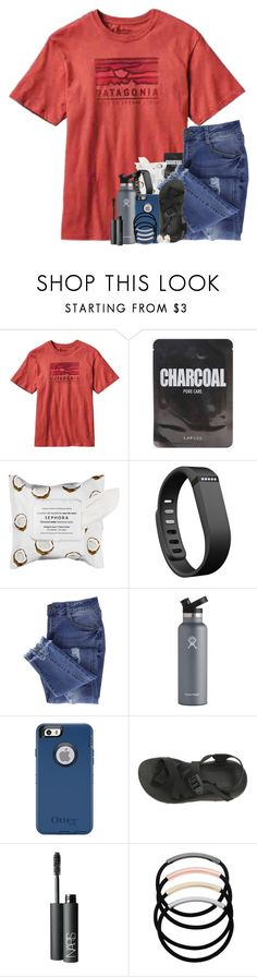 """""""My mom got a new car!!"""" by southernstruttin ❤ liked on Polyvore featuring Patagonia, Sephora Collection, Fitbit, Essie, Hydro Flask, OtterBox, Chaco, NARS Cosmetics, L. Erickson and Melissa Joy Manning"""