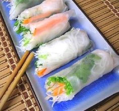 """Goi Cuon (Vietnamese Cold Spring Rolls): """"These are the best! I could live off of these. They are extremely easy to make and very low in fat, too. I make them all the time now!"""" -Monica P."""