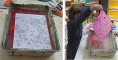 COLORARE CON L'ACQUA: come fare la carta marmorizzata - Io gioco all'Arte