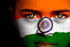 India Flag- Hinduism. Orange is the colour of the Hindu saints of India and the colour of peace. White is the symbol of Purity and Green the symbol of courage. The Blue Chakra represent the codes of conducts in Hinduism such as vegetarianism, non violence, peace etc ॐ