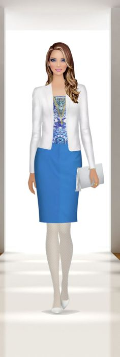 Summer in the Office Fashion Games, Fashion Styles, Covet Fashion, Women's Fashion, Peplum Dress, Dress Up, Secretary, Printables, Summer