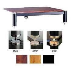 304 Series Fixed Height Speaker Stand Shelves: Oak, Frame/Caps: Black Poles/Black Caps by VTI. $99.99. BL304-01BO Shelves: Oak, Frame/Caps: Black Poles/Black Caps Features: -Accommodates extra large audio amplifier.-3 leg style, like BL304 audio rack (VI1005). Options: -Cap and adjustable spike color: available in 24K Gold-polished Chrome, Black Chrome or Silver Chrome.-Shelf color: available in Black, Oak, Natural or Cherry. Color/Finish: -See additional images be...
