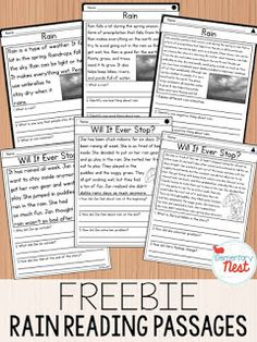 Teach Your Child To Read - FREE Reading Passages for spring- This is a sample set from my differentiated reading passages for spring. There is a fiction and nonfiction story, with three different levels. - Teach Your Child To Read 2nd Grade Reading Passages, Cloze Reading, Reading Comprehension Passages, 3rd Grade Reading, Reading Fluency, Reading Intervention, Guided Reading, Reading Strategies, Comprehension Activities
