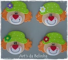 Kids Crafts, Clown Crafts, Popsicle Stick Crafts For Kids, Foam Crafts, Arts And Crafts, Clown Party, Circus Theme Party, Circus Birthday, School Board Decoration