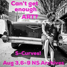TONIGHT 6-9 From @aliceinparis1  S-Curves! Summer Art Exhibition. Opening Reception August 3 6-9 Chase Gallery @ns_archives Halifax.  #saraharchibald #shelaghduffett #suzanneocallaghan #live music #wine #munchies #koconutkings #woohoo #art #halifax #artparty #womenswork #halifaxnoise