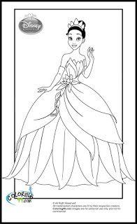 disney princess tiana coloring pages {EDL}