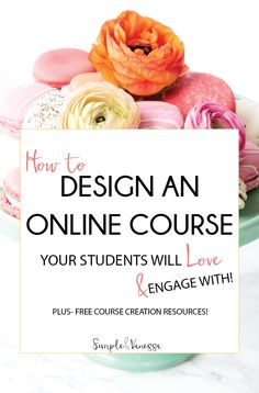 Learn how to design a course your students will LOVE & ENGAGE with! Choose the perfect fonts, color palette and elements to make your course attractive and that much more amazing. << SimpleAndVanesa
