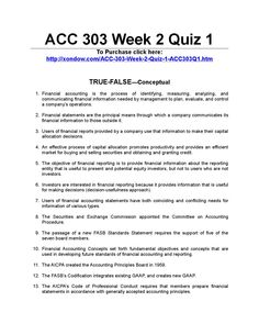 acct 551 quiz week 1 Week 1- review syllabus and discuss accounting and the business   homework, quiz and exam due dates will be discussed on the first day of class.