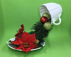 Holiday Tablescape Tree Decorating Centerpiece Children   Etsy Holiday Tablescape, Christmas Tablescapes, Holiday Tree, Christmas Wreaths, Holiday Decor, Foyer Decorating, Bra Lingerie, Tree Decorations, Tea Cups