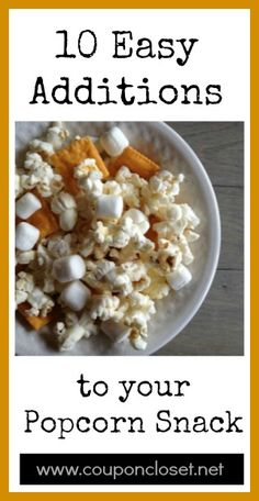 10 Ways to jazz up popcorn. You don't have to be fancy to have a fun snack.