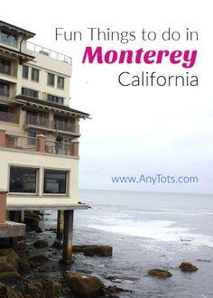Monterey Weekend Getaway Guide - Any Tots California With Kids, Monterey California, California Vacation, Travel With Kids, Family Travel, Family Trips, Us Travel Destinations, Travel Tips, Cheap Weekend Getaways