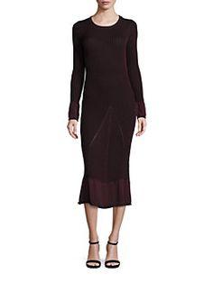 Tommy Hilfiger Collection - Rib-Knit Midi Dress