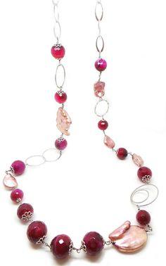 #necklace #jewelry Collana Agata Rossa - CLN 008