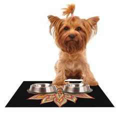 "Pom Graphic Design ""Incandescent Flower"" Dog Place Mat"